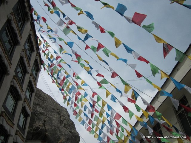 Tibetan prayer flags - They shall protect us and provide us with a long life.