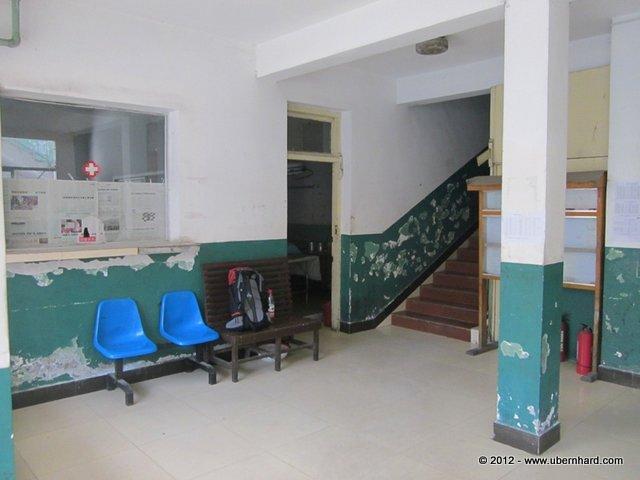 Hospital in Zangmu - Yes, the X-ray machine did work...